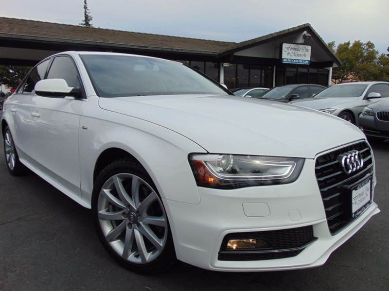 2014 AUDI A4 20T PREMIUM 4DR SEDAN white clean carfax reportone ownercalifornia vehicle