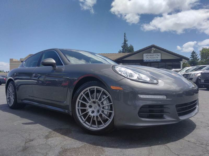 2014 PORSCHE PANAMERA S 4DR SEDAN agate gray metallic one ownerclean carfaxcalifornia veh