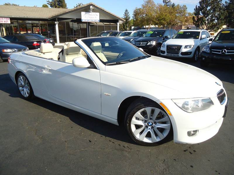 2012 BMW 3 SERIES 328I 2DR CONVERTIBLE SULEV white 1 owner  clean carfax comes with the remaind