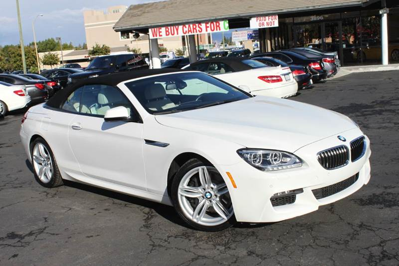 2014 BMW 6 SERIES 640I 2DR CONVERTIBLE white 2-stage unlocking doors abs - 4-wheel active head r