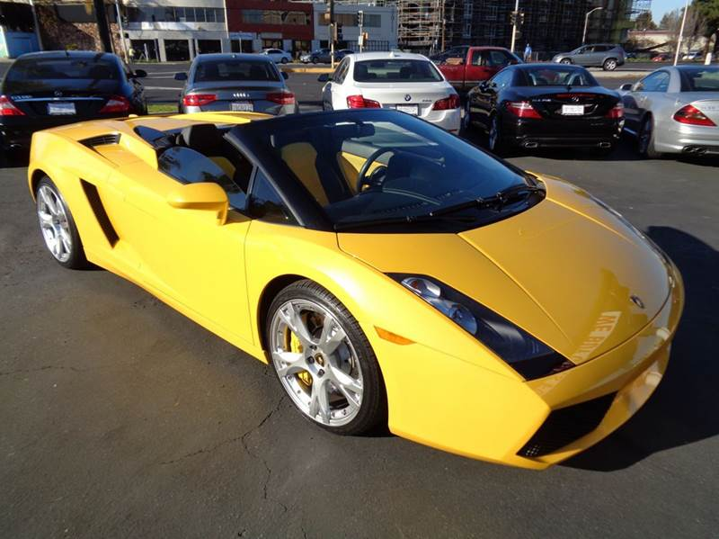 2007 LAMBORGHINI GALLARDO SPYDER AWD 2DR CONVERTIBLE tri yellow 2-stage unlocking doors 4wd type