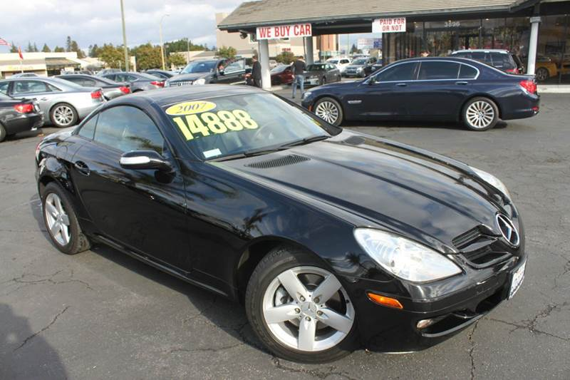 2007 MERCEDES-BENZ SLK SLK280 2DR CONVERTIBLE black 2-stage unlocking doors abs - 4-wheel air f