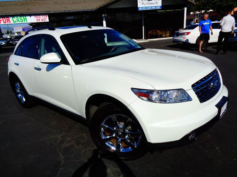 2005 INFINITI FX35 BASE RWD 4DR SUV white clean carfax  1 owner  low mileage full leat