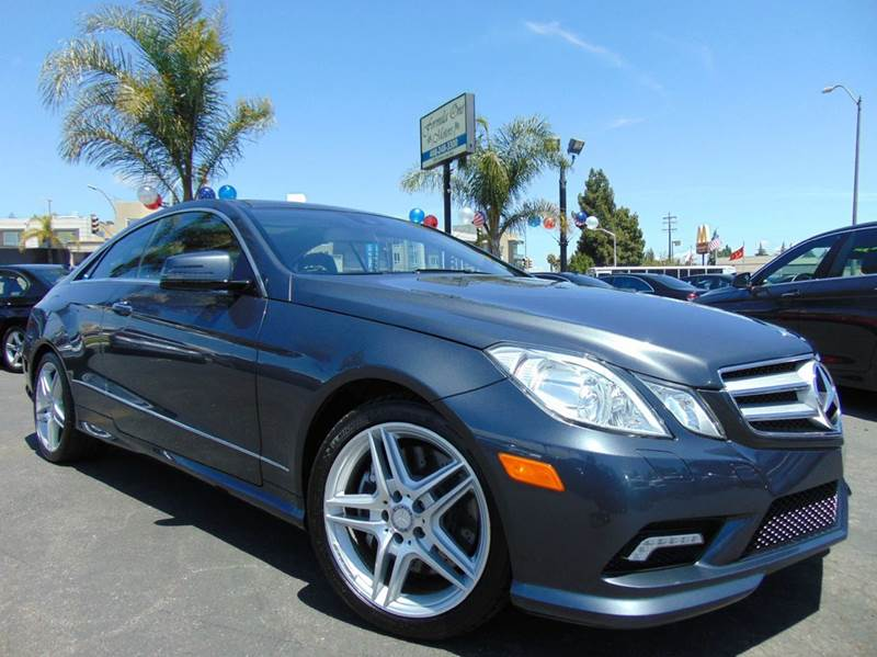 2011 MERCEDES-BENZ E-CLASS E 550 2DR COUPE charchoal 2-stage unlocking doors abs - 4-wheel acti