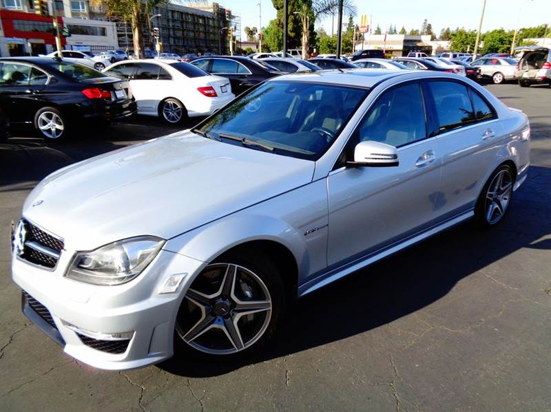 2012 MERCEDES-BENZ C-CLASS C63 AMG 4DR SEDAN silver clean carfax 1 of a kind this is c63