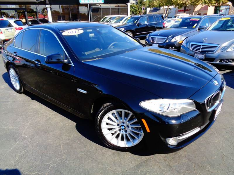 2012 BMW 5 SERIES 535I 4DR SEDAN black 1 owner  clean carfax  navigation system  premium