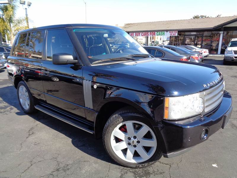 2006 LAND ROVER RANGE ROVER HSE 4DR SUV 4WD dark blue clean carfax luxuryloaded with navigat