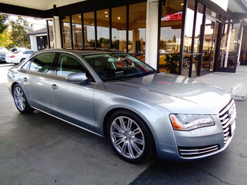 2013 AUDI A8 L 30T QUATTRO AWD 4DR SEDAN gray clean carfax  this is the real deal  audi a8l