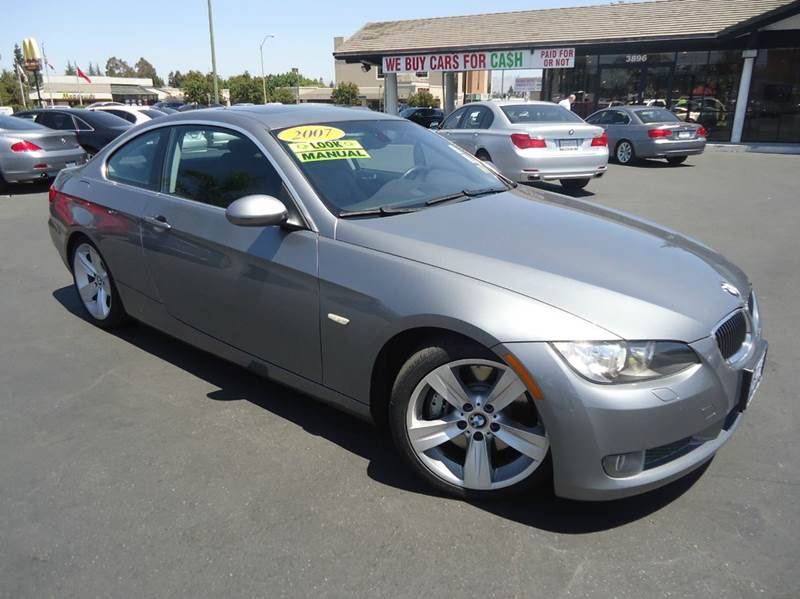 2007 BMW 3 SERIES 335I 2DR COUPE silver clean carfax rare find 6 speed manual transmission w