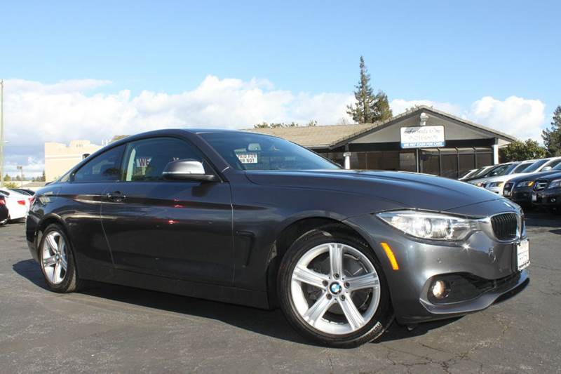 2014 BMW 4 SERIES 428I 2DR COUPE SULEV gray one ownerclean carfaxcalifornia vehiclenaviga