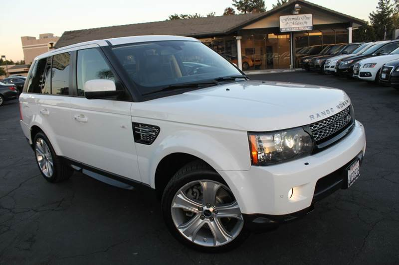 2012 LAND ROVER RANGE ROVER SPORT HSE LUX 4X4 4DR SUV white clean carfax  luxury package  n