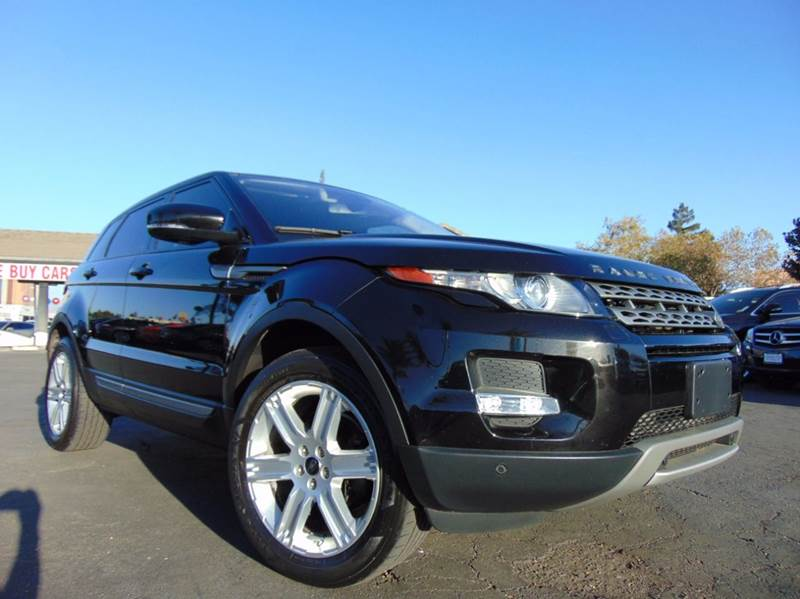 2013 LAND ROVER RANGE ROVER EVOQUE PURE PLUS AWD 4DR SUV black clean carfax report2nd owner