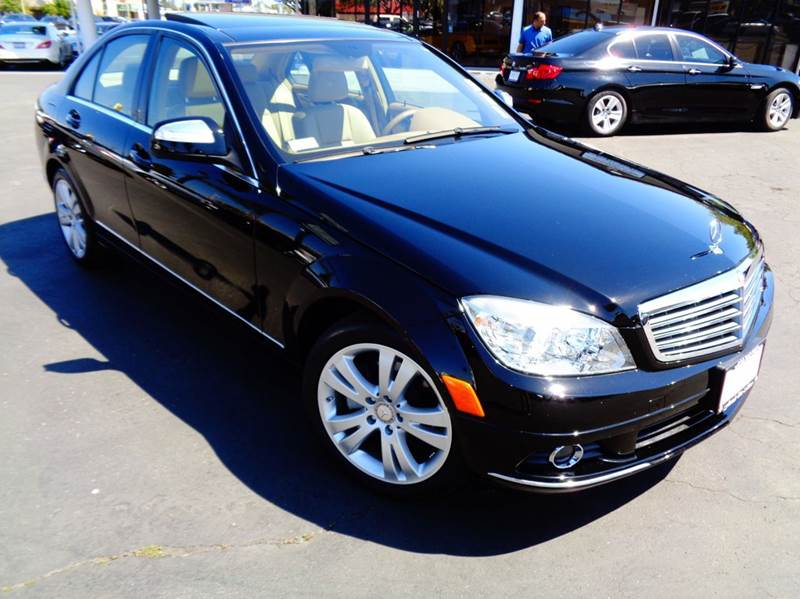 2008 MERCEDES-BENZ C-CLASS C300 SPORT 4DR SEDAN black clean carfax c300  luxury package