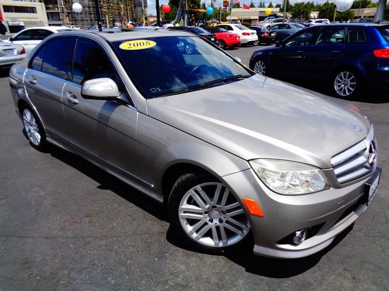 2008 MERCEDES-BENZ C-CLASS C300 SPORT 4DR SEDAN pewter abs - 4-wheel active head restraints - du