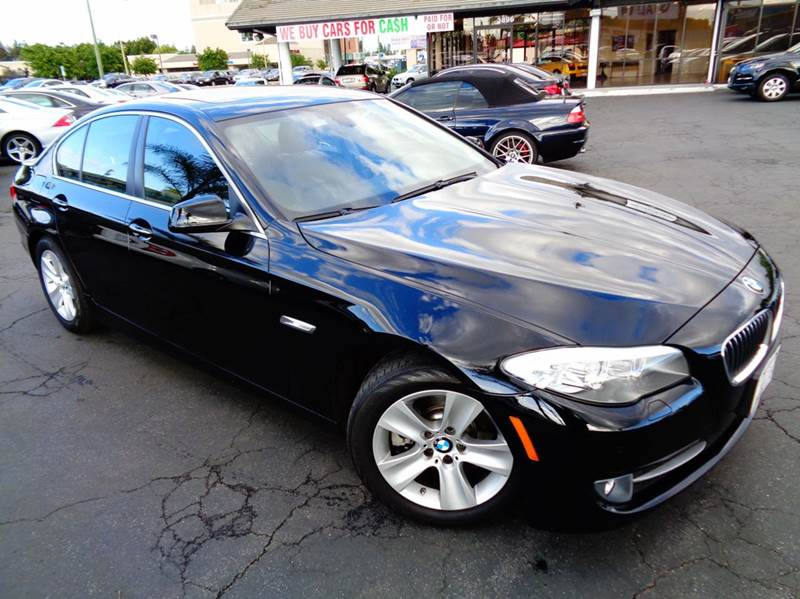 2013 BMW 5 SERIES 528I 4DR SEDAN black 1 owner clean carfax loaded navigation systemrear