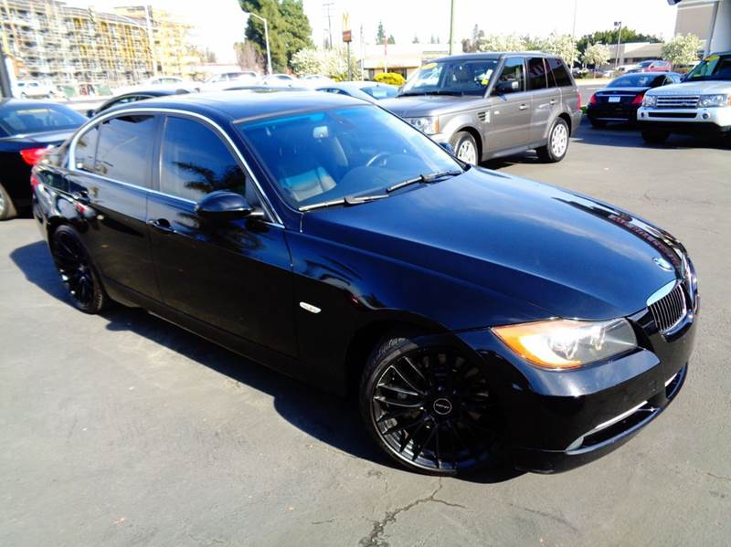 2007 BMW 3 SERIES 335I 4DR SEDAN black celan carfax twin turbo equipped with navigation syte