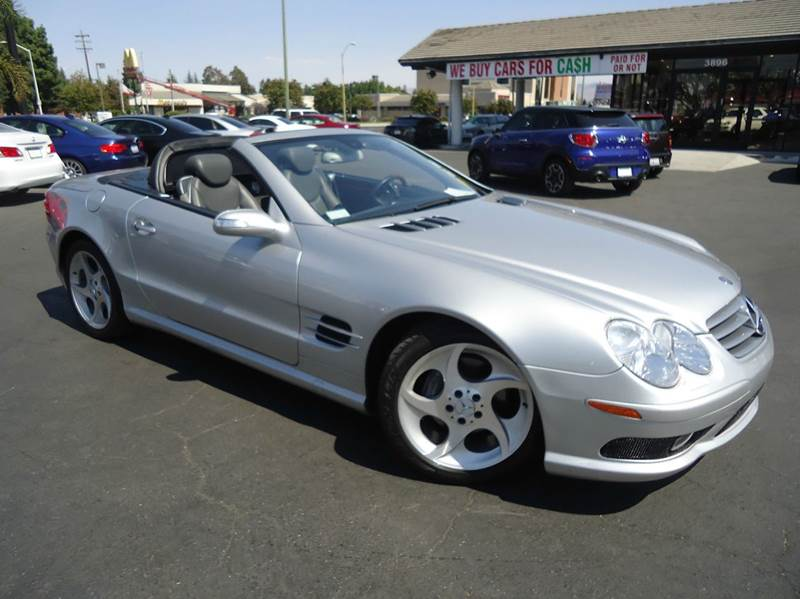 2005 MERCEDES-BENZ SL-CLASS SL500 2DR CONVERTIBLE silver very low mileage fully loadedequi