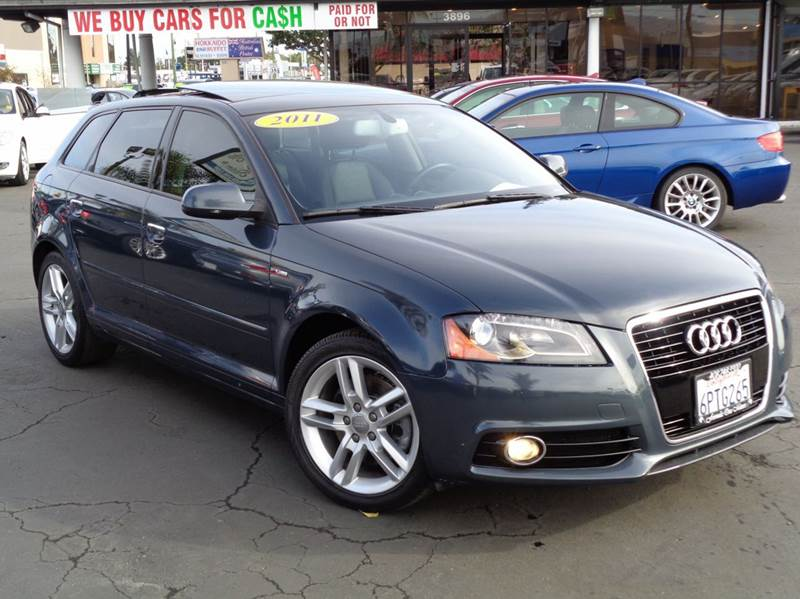 2011 AUDI A3 20T PREMIUM PLUS PZEV 4DR WAGON blue clean carfax s-line premium plus package f