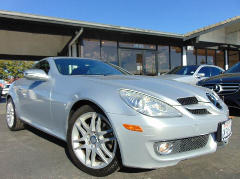 2009 MERCEDES-BENZ SLK SLK 300 2DR CONVERTIBLE silver 2-stage unlocking doors abs - 4-wheel act