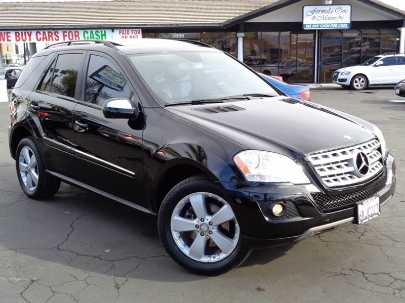 2009 MERCEDES-BENZ M-CLASS ML350 4MATIC AWD 4DR SUV black clean carfax 4matic low milesnavi
