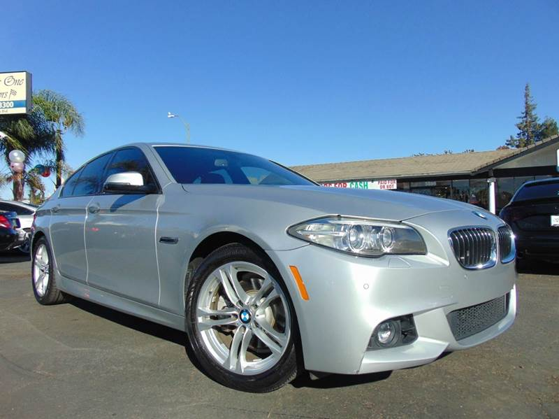 2014 BMW 5 SERIES 528I 4DR SEDAN silver one ownerclean carfax history reportcalifornia veh