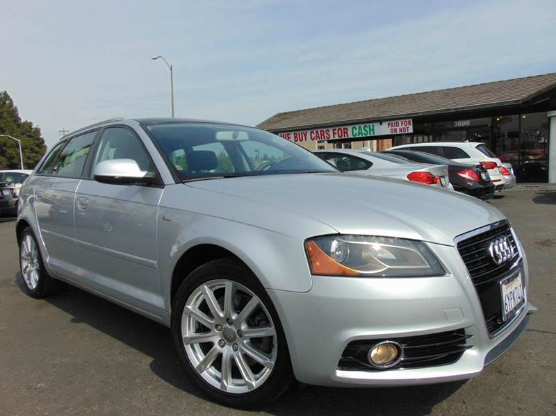 2013 AUDI A3 20T PREMIUM PLUS 4DR WAGON 6A silver clean carfaxcalifornia vehicles-line
