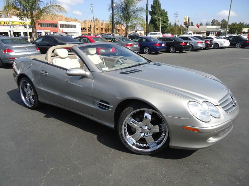 2004 MERCEDES-BENZ SL-CLASS SL500 2DR CONVERTIBLE metallic green well kept 1 owner california