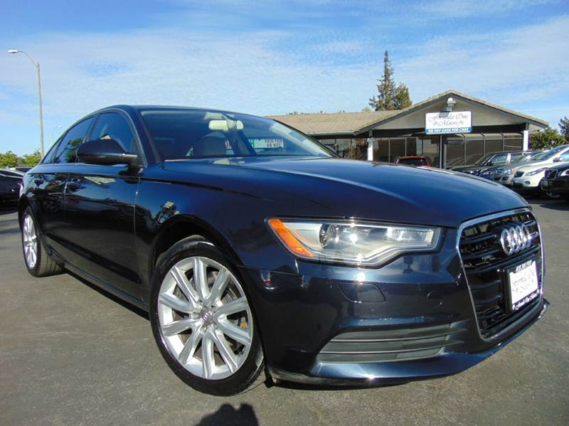 2014 AUDI A6 20T QUATTRO PREMIUM PLUS AWD 4D aviator blue metallic one ownerclean carfaxc