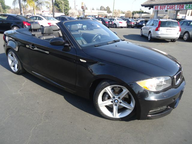 2008 BMW 1 SERIES 135I 2DR CONVERTIBLE black navigation m sport steering  sport package