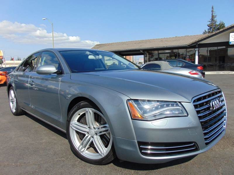 2011 AUDI A8 QUATTRO AWD 4DR SEDAN gray 2-stage unlocking doors 4wd type - full time abs - 4-whe