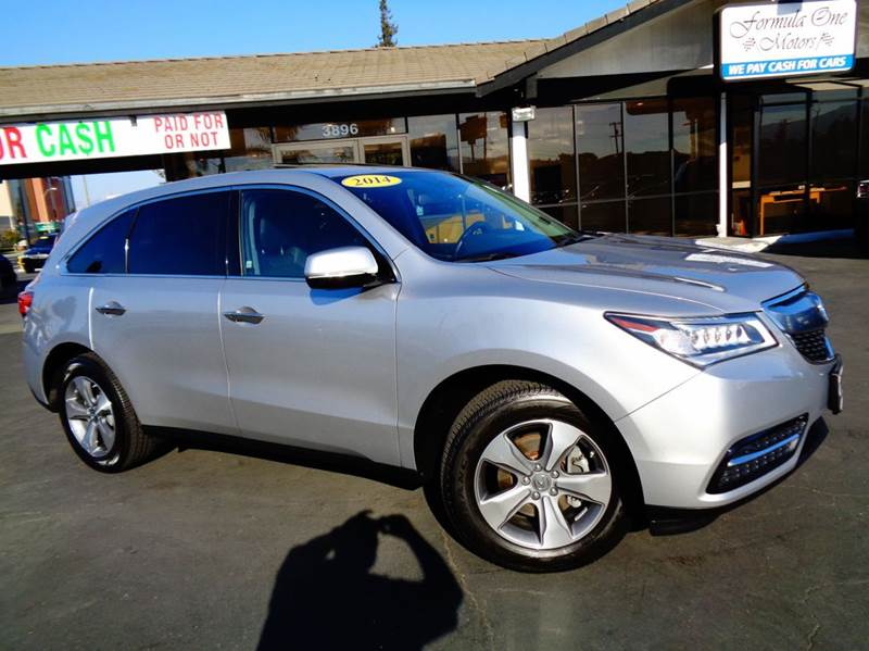 2014 ACURA MDX BASE 4DR SUV silver 2-stage unlocking doors abs - 4-wheel active head restraints