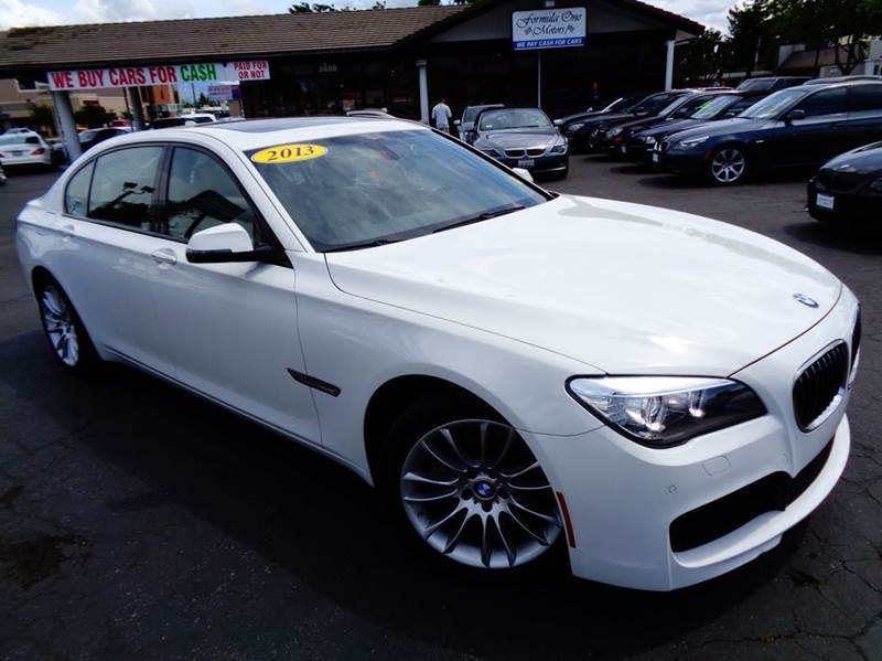 2013 BMW 7 SERIES 740LI 4DR SEDAN white california car 1 owner clean carfax m sport