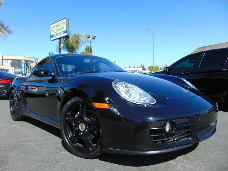 2007 PORSCHE CAYMAN BASE 2DR COUPE black clean carfaxone ownercalifornia vehiclenavig