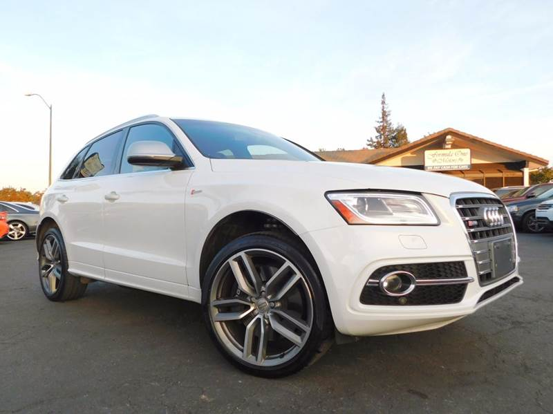 2015 AUDI SQ5 30T QUATTRO PREMIUM PLUS AWD 4D white 2-stage unlocking doors 4wd type - full time