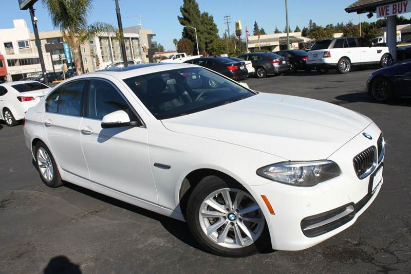 2014 BMW 5 SERIES 528I 4DR SEDAN white 2-stage unlocking doors abs - 4-wheel active head restrai
