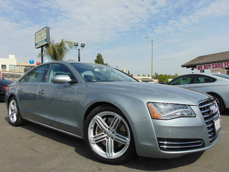 2012 AUDI A8 QUATTRO AWD 4DR SEDAN gray clean carfaxcalifornia vehiclenavigationback u