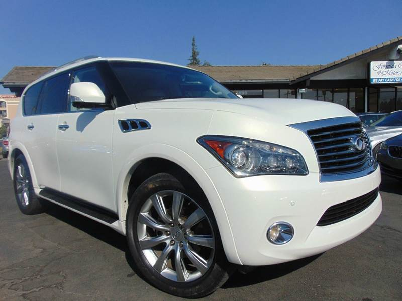 2012 INFINITI QX56 BASE 4X4 4DR SUV white clean carfax reportone owneronly 73k mileslo