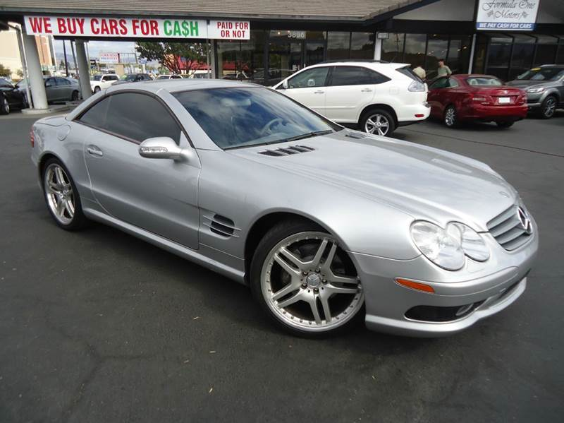 2003 MERCEDES-BENZ SL-CLASS SL500 2DR CONVERTIBLE silver 1 owner california vehicle with very