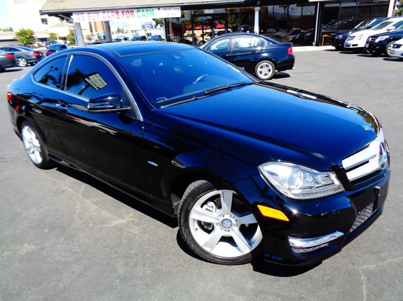 2012 MERCEDES-BENZ C-CLASS C250 2DR COUPE black abs - 4-wheel active head restraints - dual fron