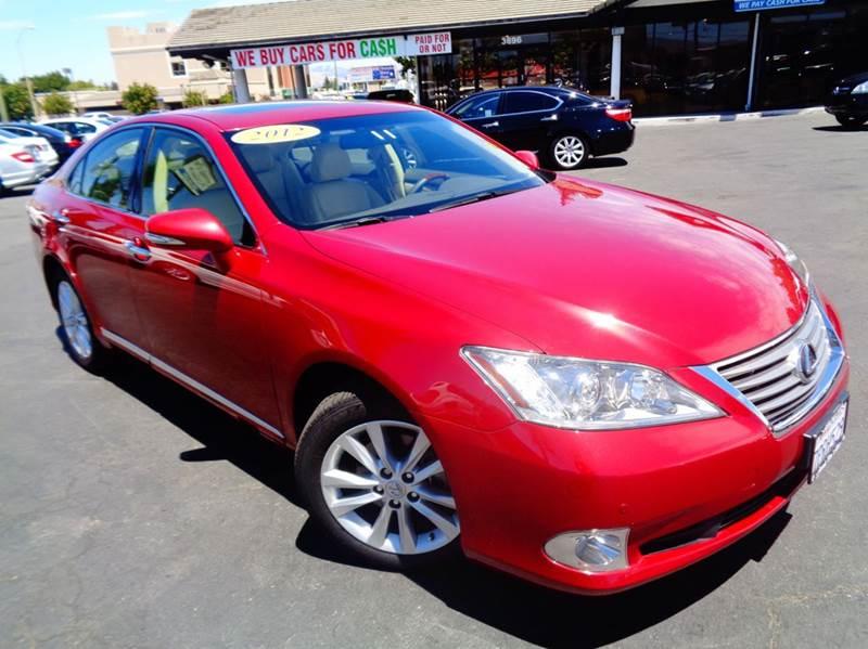 2012 LEXUS ES 350 BASE 4DR SEDAN red clean carfax california vehicle 2-stage unlocking doors