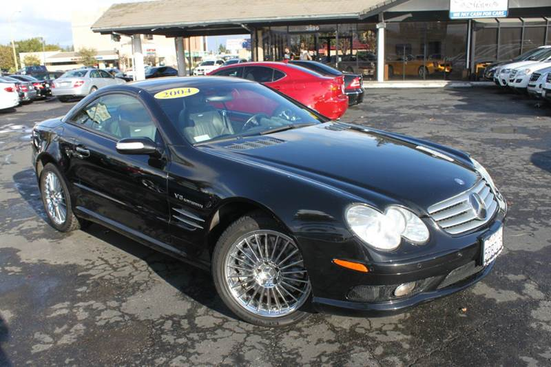 2004 MERCEDES-BENZ SL-CLASS SL 55 AMG 2DR CONVERTIBLE black this car is a must seevery well ma