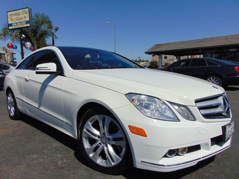 2011 MERCEDES-BENZ E-CLASS E 350 2DR COUPE white one ownerclean carfax reportcalifornia v