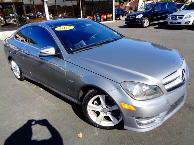 2012 MERCEDES-BENZ C-CLASS C250 2DR COUPE gray clean carfax 1 owner navigation system