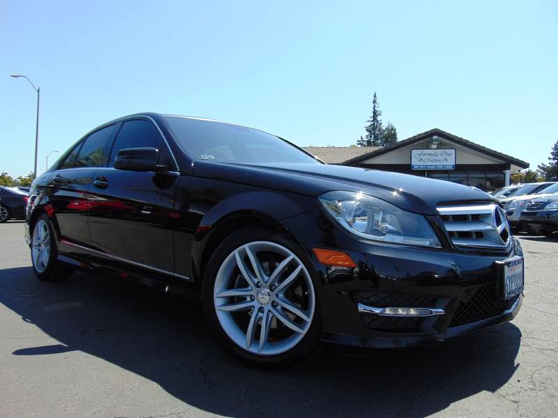 2013 MERCEDES-BENZ C-CLASS C 250 SPORT 4DR SEDAN black clean carfax report2nd ownercalifor