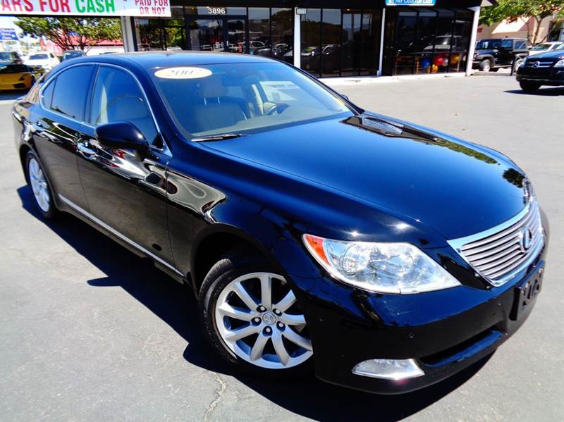 2007 LEXUS LS 460 BASE 4DR SEDAN black california vehicleclean carfax loaded this is a