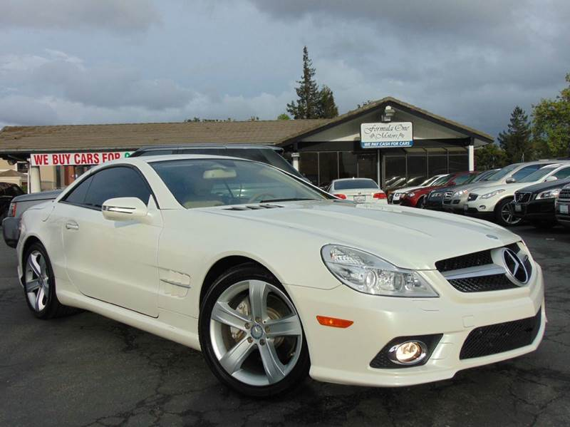 2009 MERCEDES-BENZ SL-CLASS SL 550 2DR CONVERTIBLE white clean carfaxalways dealer maintained