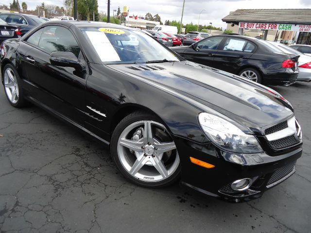 2009 MERCEDES-BENZ SL-CLASS SL550 black the two-seat 2009 mercedes-benz sl-class roadster rides th