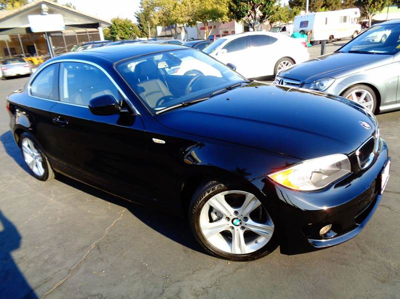 2012 BMW 1 SERIES 128I 2DR COUPE SULEV black clean carfax 1 owner  sport coupe  low mi