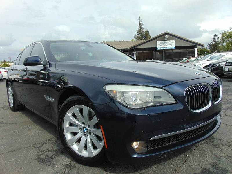 2011 BMW 7 SERIES 750I 4DR SEDAN imperial blue metallic one ownerclean carfaxluxury seati