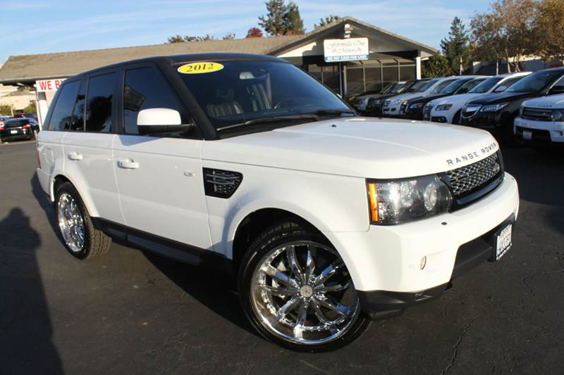 2012 LAND ROVER RANGE ROVER SPORT HSE LUX 4X4 4DR SUV white clean carfax  luxury package  dv